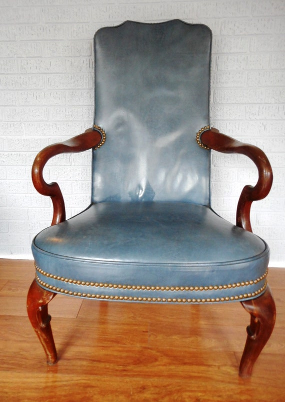 HUGE SALE Blue Leather Thomasville Furniture by