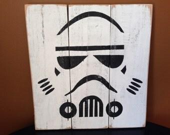 Stormtrooper Wood Pallet Sign