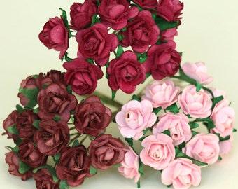 Mini Paper Roses {9 colours}