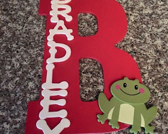 Custom Wooden Letters, wooden monograms, decorated monogram, large wooden letter, personalized name, kids room decor, wall hanging letter