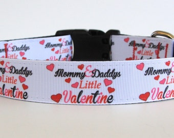 Mommy & Daddy's Little Valentine Collar READY TO SHIP!
