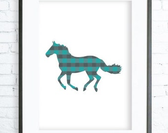 Turquoise Horse, Turquoise Print ,Horse printable art, Print Art, Horse Wall Decor, Horse Art Print, Turquoise Art