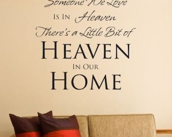 Because someone we love is in heaven vinyl wall decal loving memory sticker