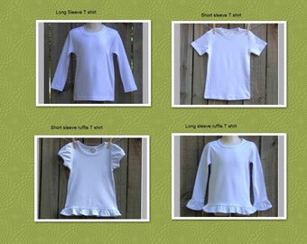 PHOTOS of Blanks Boutique T-shirts and Onesie Styles  And Size Charts    DO NOT purchase this listing