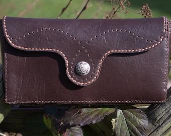 Leather bag, Leather handbag, Handmade leather clutch -Dark brown Leather