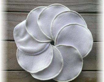 Reusable Washable Breast pads, organic cotton bamboo Pack of 8, 4 pairs breastpads