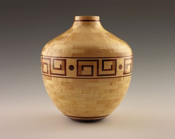 """No. 231 - Woodturning, Segmenting, Wood Vessel, """"It Was Aphrodite's"""", Sculpture, Segmented Woodturning, Home Decor"""