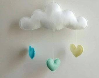 Love Cloud Mobile 'LIMÃO' - Ready to Ship! | Nursery Decor | Baby | Kids | It's Raining Love!