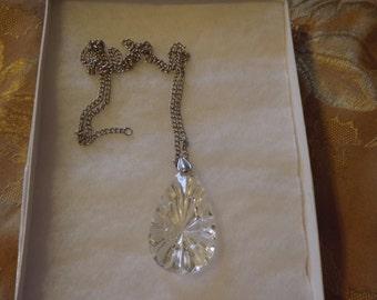 Vintage Avon Lucite Teardrop Necklace