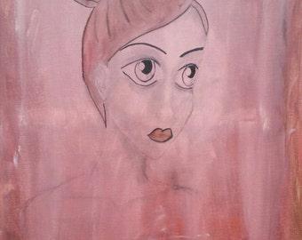 "Mixed Media Original 18 x 24 Canvas Painting ""Insightful"""