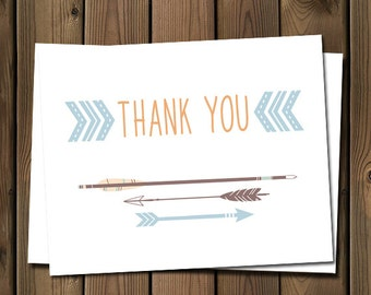 Arrow thank you note card, _52