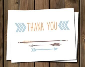 Arrow thank you note card, _52