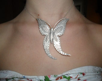 Pendant big silver Butterfly 925
