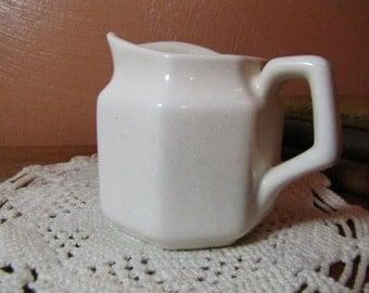 Vintage Creamer - Heavy White Pottery