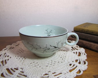 Vintage Teacup - Robins Egg Blue with White Flowered Branch