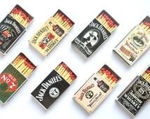 LOT of 8 vintage JACK DANIEL style matches box ' S classic retro set