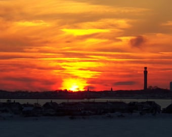 Provincetown Sunset 04 - Professional Art Print, matted and framed, Provincetown MA
