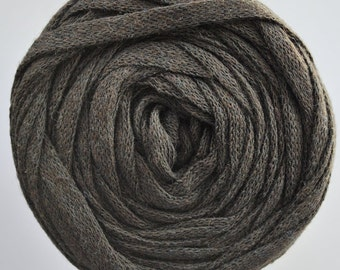 bulky recycled cotton yarn | Dark Brown