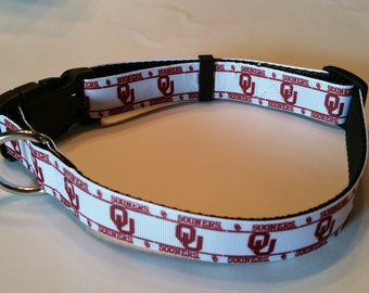 University of Oklahoma OU Sooners Dog Collar