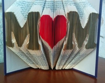 M<3M - Folded Book Art - Fully Customizable, Mom, Mother's Day