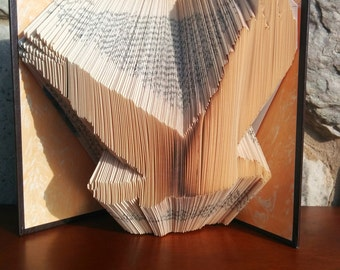 Eagle Silhouette - Folded Book Art - Fully Customizable, fly, flight, Eagle Scout gift