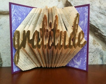 Gratitude- Folded Book Art - Fully Customizable, thank you gift