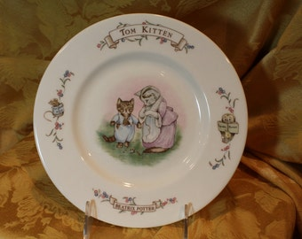 Beatrix Potter, Tom Kitten Childs Dish, Royal Albert Bone China, 1986 (C033)