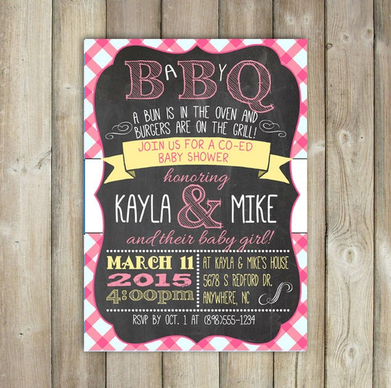 babyq baby shower invitation backyard bbq invite co ed baby shower