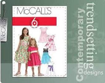 McCall's M 6020, Girl's Dress, Size 7, 8, 10, 12, 14, Sewing Pattern