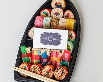 Candy Sushi Boat - Made fresh to Order, Event Favors or for Everyday Enjoyment, Perfect Gifts, Unique & Delicious