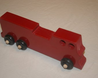 Toy Wood Fire Truck