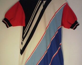 vintag Italian cycling jersey, 1970s, cycling shirt