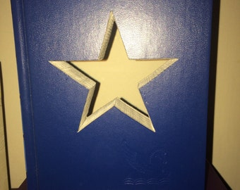 STAR Book Art!  Custom Made Just for YOU!!  Created from actual Hardcover Books!!  Lots of colors and patterns available