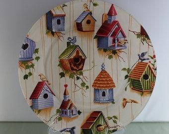 Decorative Bird House Plate