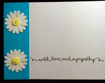 With Love & Sympathy Daisy Greeting Card