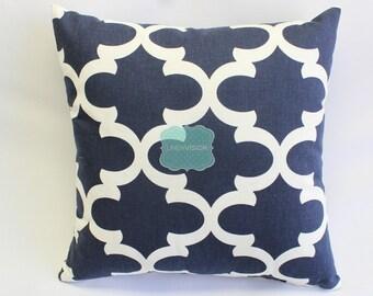 Pillow Cover - Premier Prints - FYNN - Blue White - Home Decor Sofa Throw Pillow-Cover with Zipper Enclosure - All Sizes