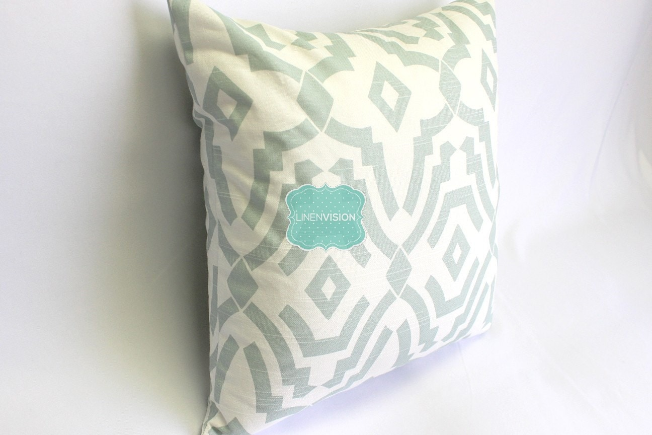 Sheffield Home Throw Pillow : Pillow Cover Premier Prints SHEFFIELD Artichoke by LinenVision