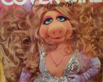 Miss Piggy cover girl fantasy calendar 1981