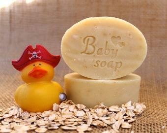 Organic Handmade Oatmeal Baby Soap, Unscented Soap, Natural Soap, Baby Soap, Vegan Baby Soap, Oatmeal Soap, Gentle Soap, Moisturizing Soap