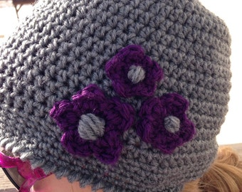 Winter Hat with Flower