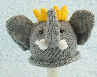 Cute baby hats Baby elephant hat newborn elephant hat child elephant hat Babar