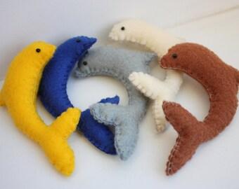 Colorful Dolphin Felt Charm
