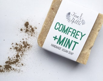 Comfrey+Mint Handmade Vegan Soap