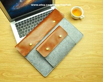 "Felt Macbook 13 Sleeve , Felt Macbook Air 13 Cover , 2016 13"" Macbook Pro , Felt Macbook Air 13 Case , Macbook air 13.3-TFL115"