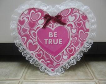 Valentine's Day Decor- Valentine's Day Chipboard Heart-Conversation Heart Decor