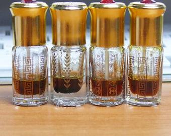 4xPure 1 ml 100% Agarwood Oudh Oud Oil Trat/Trad/Thailand/Cambodia Sample