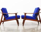 Mid Century  Modern Walnut Lounge Chairs (Each)