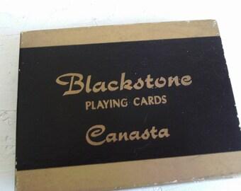 Vintage Blackstone Playing Cards Canasta 1960's
