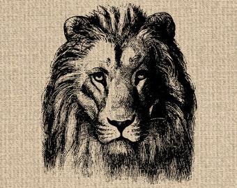 Printable Lion Images Lion Graphics Lion Clipart Lion Printable Lion Download Vintage Printable 300dpi HQ