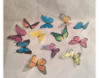 Wafer Paper Butterfly  Toppers 1 DOZEN
